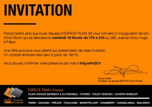 invitation inauguration show-room frejus