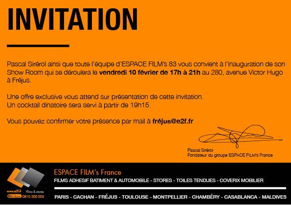 Inauguration du Showrom Actualit du Rseau Espace Films France